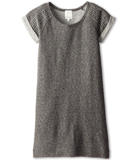 Ella Moss Girl - Cara Frech Terry Dress (Big Kids) (Dark Grey Heather) Girl's Dress