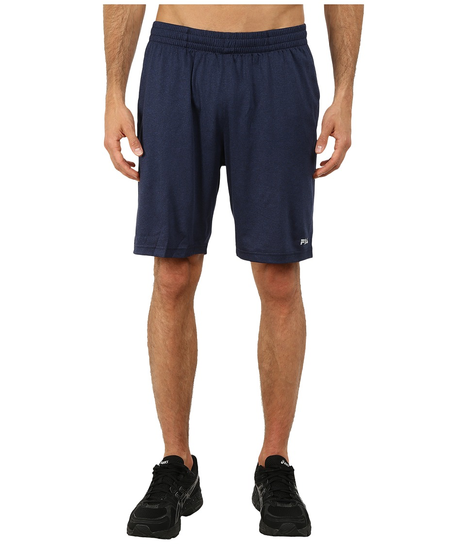Fila - Performance Heather Short (Peacoat Heather/Varsity Heather) Men's Shorts