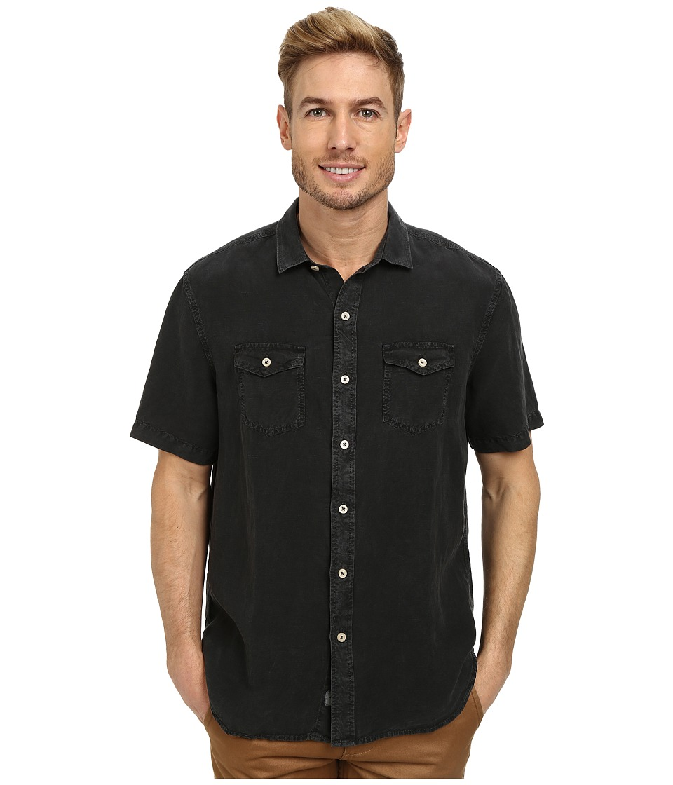 Tommy Bahama - Sand Linen S/S (Coal) Men's Clothing