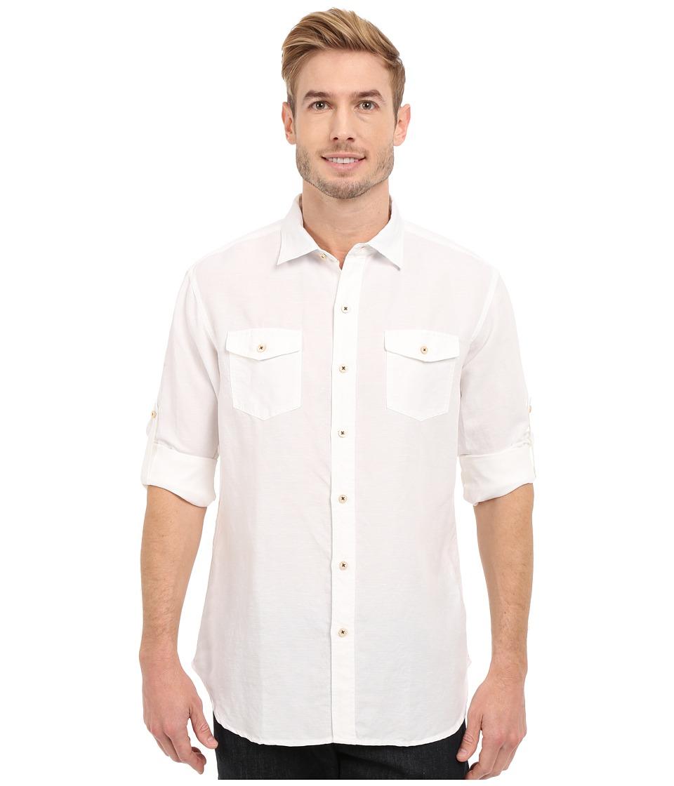 Tommy Bahama - New Sand Linen L/S (White) Men's Clothing