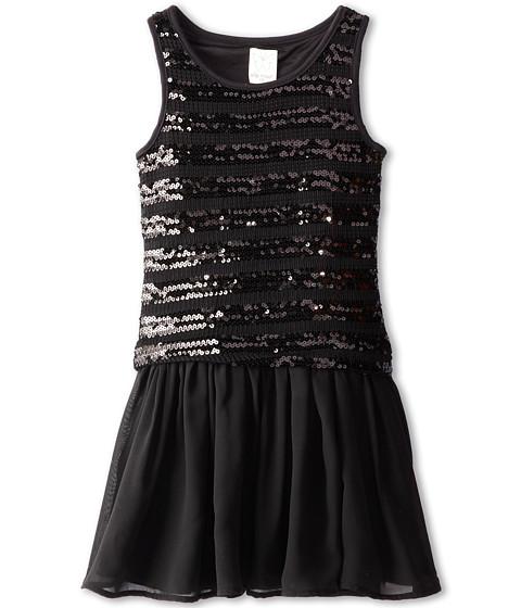 Ella Moss Girl - Ruby Novelty Sequins Tank Dress (Big Kids) (Black) Girl's Dress