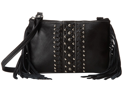 American West - Black Hills Crossbody Pouch (Black) Cross Body Handbags