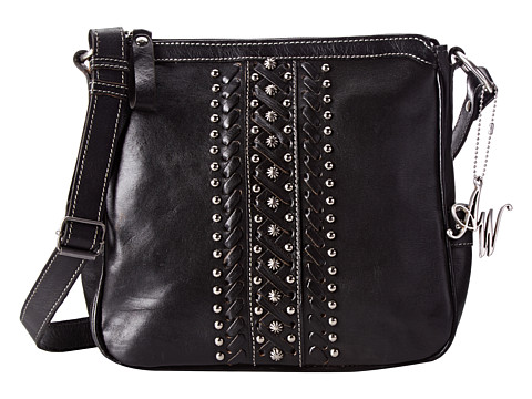 American West - Black Hills Crossbody (Black) Cross Body Handbags