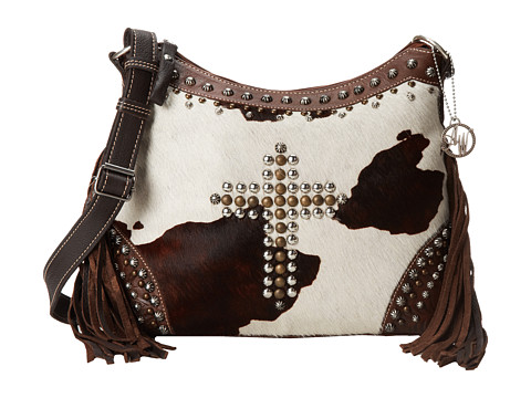 American West - Home on The Range Shoulder Bag (Chestnut Brown/Chocolate Brown/Pony Hair) Shoulder Handbags