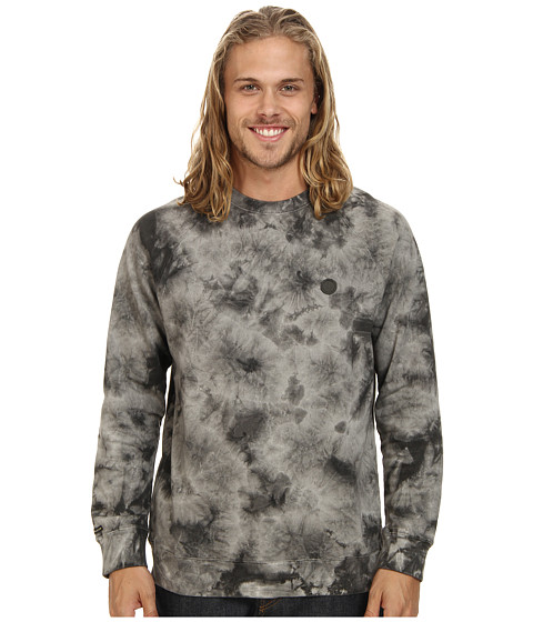 Volcom - Washed Pulli Crew (Black) Men's Sweatshirt