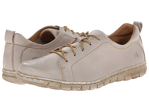 Born - Kester (Light Grey Full-Grain Leather) Women's Lace up casual Shoes
