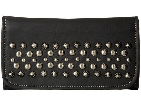 American West - Dixie Girl Soft Tri-Fold Wallet (Black) Wallet Handbags