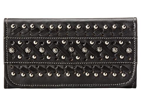 American West - Black Hills Tri-Fold Wallet (Black) Wallet Handbags
