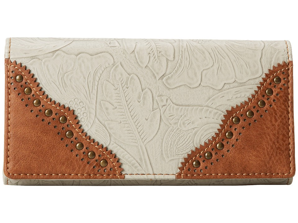 American West - Castle Rock Flap Wallet (Cream/Tan) Wallet Handbags
