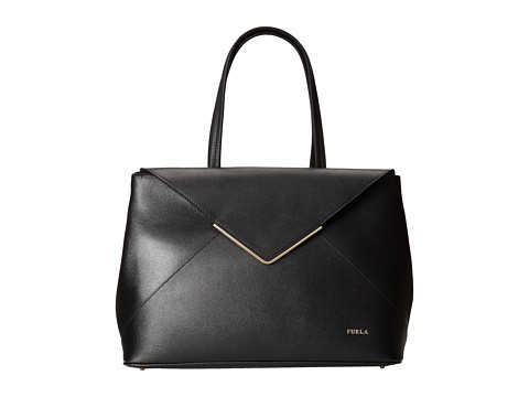 Furla - Kelis Medium East/West Tote (Onyx) Tote Handbags