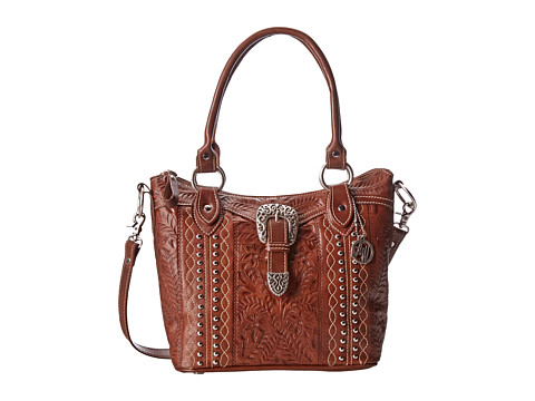 American West - Twisted Trail Convertible Bucket Tote (Antique Brown) Tote Handbags
