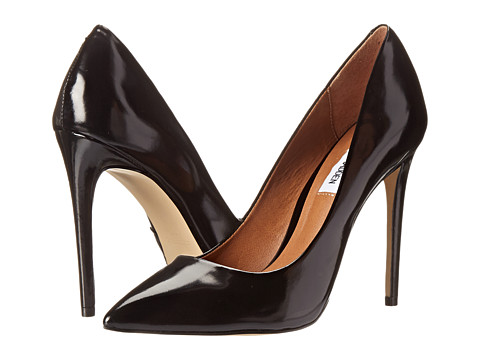 Steve Madden - Proto (Black Leather) High Heels