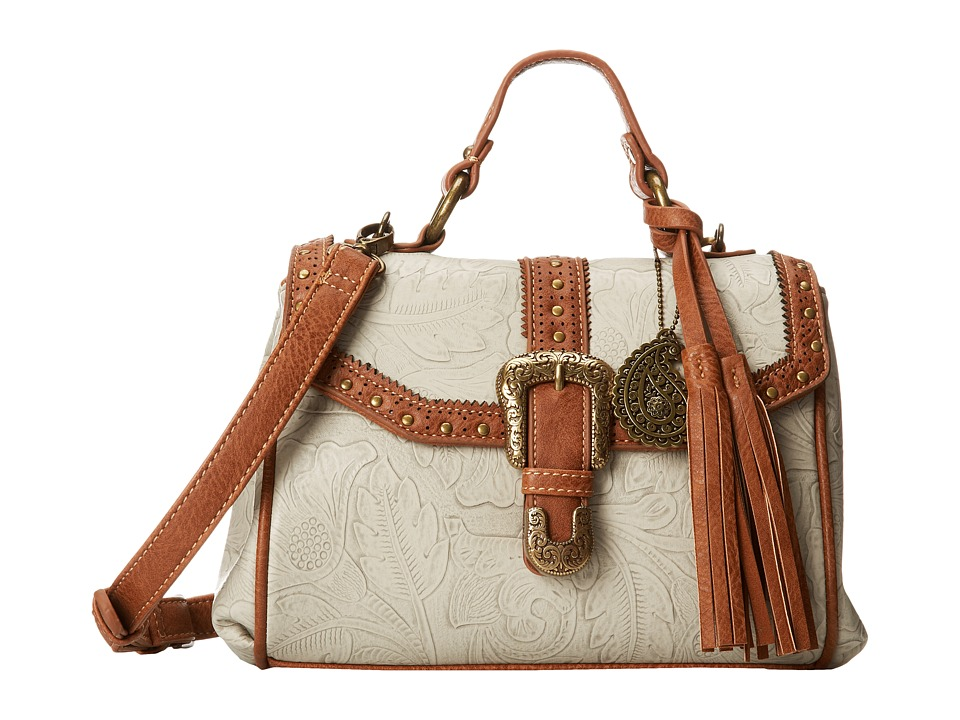 American West - Castle Rock Top Handle Convertible Flap Bag (Cream/Tan) Handbags