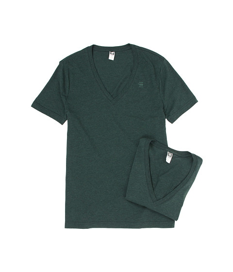 G-Star - Base Heather V-Neck Tee 2-Pack (Calzo Heather) Men
