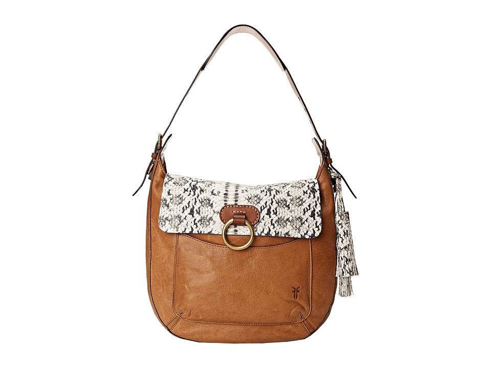 Frye - Esther Ring Hobo (Tan Embossed/Antique Lambskin) Hobo Handbags