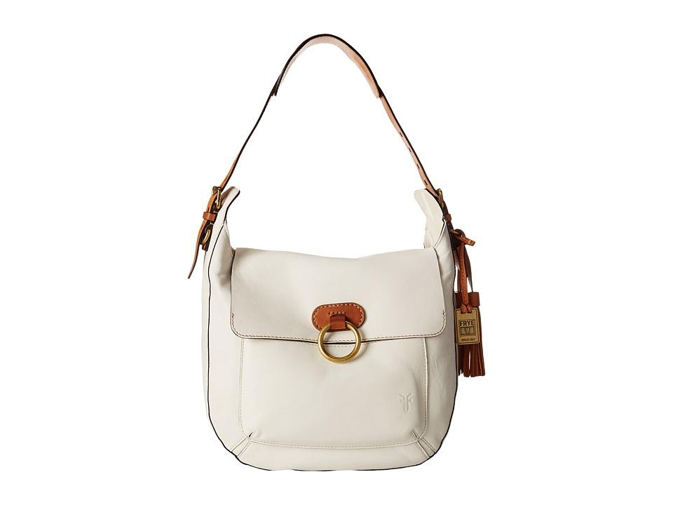 Frye - Esther Ring Hobo (White Antique Lambskin) Hobo Handbags