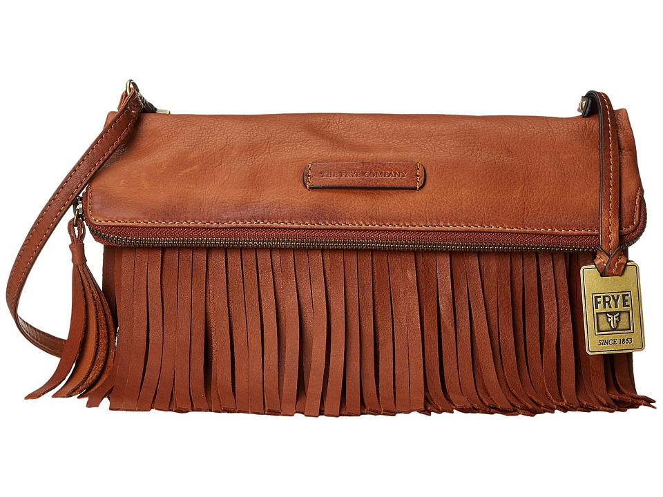 Frye - Heidi Fringe Crossbody (Whiskey Soft Vintage Leather) Cross Body Handbags