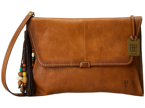 Frye - Hillary Envelope (Brown Tumbled Full Grain) Cross Body Handbags