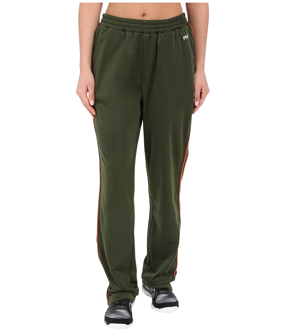 Fila - Work It Out Track Pant (Rifle Green/Fiery Coral) Women's Casual Pants