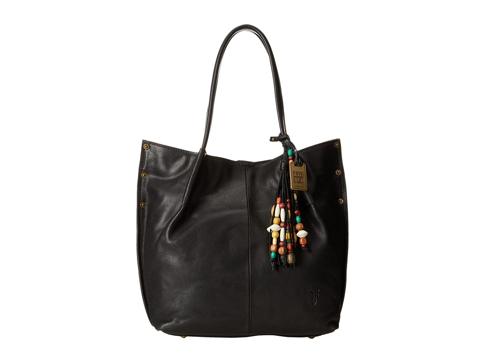 Frye - Hillary Tote (Black Tumbled Full Grain) Tote Handbags