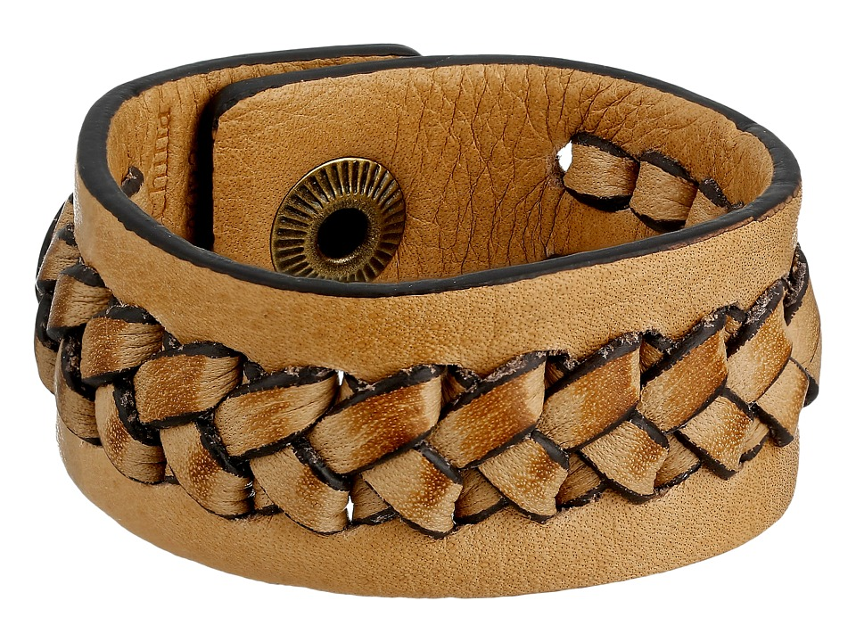Frye - Jenny Snap Cuff (Beige Soft Vintage Leather) Bracelet