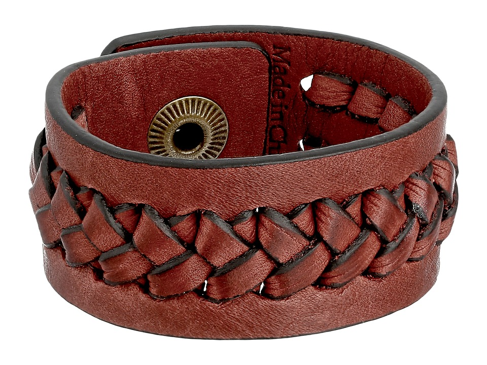 Frye - Jenny Snap Cuff (Burnt Red Soft Vintage Leather) Bracelet