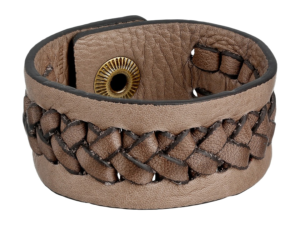 Frye - Jenny Snap Cuff (Grey Soft Vintage Leather) Bracelet