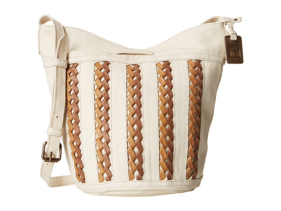 Frye - Tricia Weave Bucket (Off White Soft Vintage Leather) Shoulder Handbags