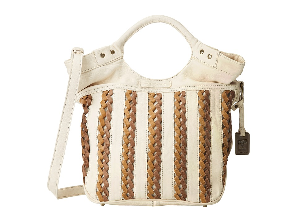 Frye - Tricia Weave Shopper (Off White Soft Vintage Leather) Shoulder Handbags