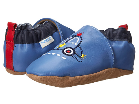 Robeez - Police Hero Soft Soles (Infant/Toddler) (Ocean Blue) Boy