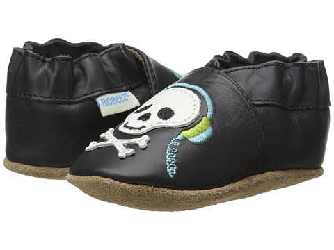 Robeez - Blast from the Past Soft Soles (Infant/Toddler) (Black) Boy's Shoes