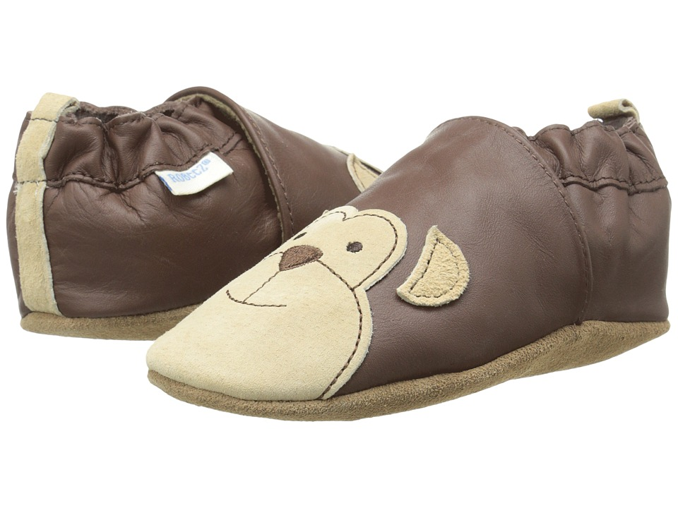 Robeez - Monkey Myles Soft Soles (Infant/Toddler) (Brown) Boy's Shoes