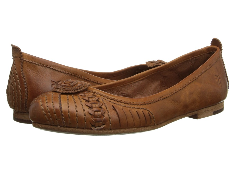 Frye - Carson Concho Ballet (Brown Smooth Vintage Leather) Women