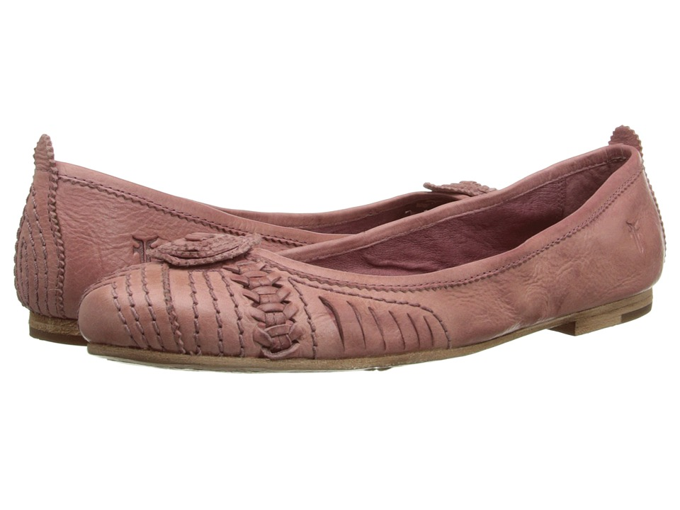 Frye - Carson Concho Ballet (Dusty Rose Smooth Vintage Leather) Women's Slip on Shoes