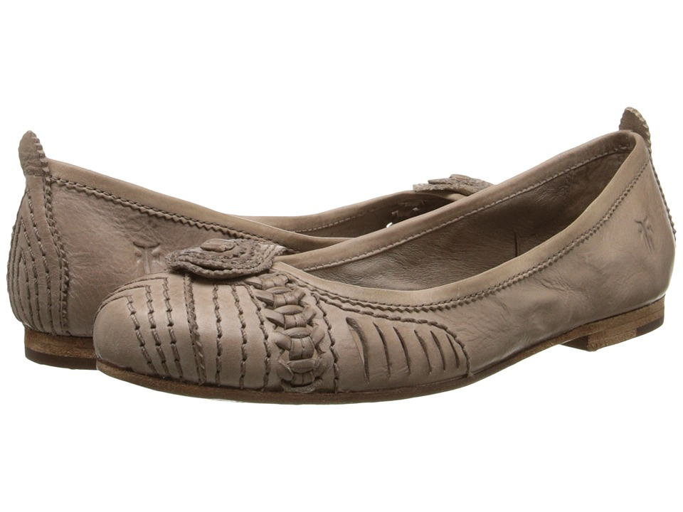Frye - Carson Concho Ballet (Grey Smooth Vintage Leather) Women