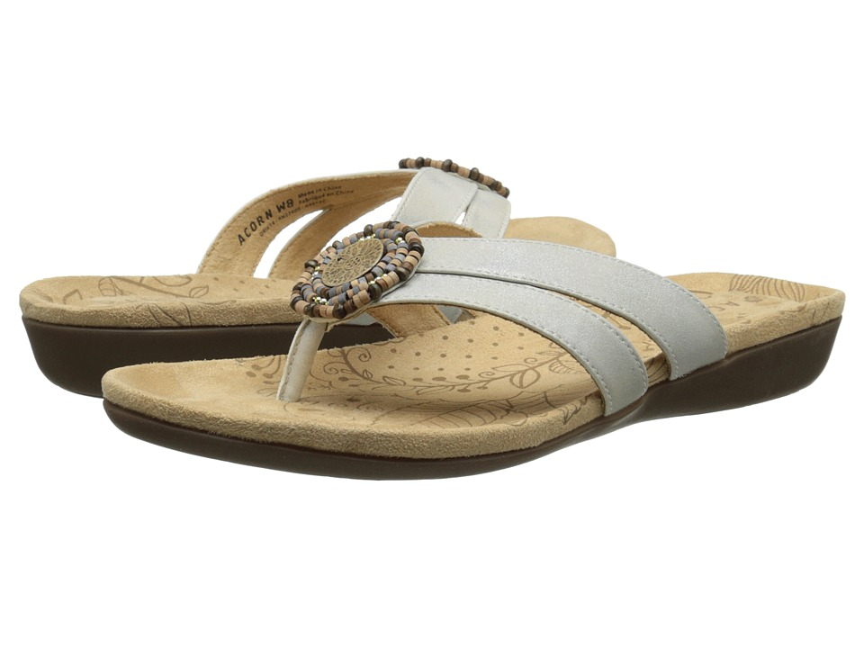 Acorn - Samoset Thong (Oyster) Women's Shoes