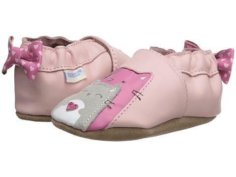 Robeez - Sweet Friends Soft Soles (Infant/Toddler) (Pastel Pink) Girl
