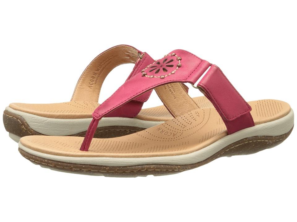 Acorn - Vista Beaded Thong (Crimson) Women's Shoes