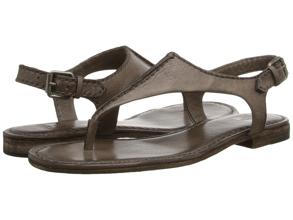 Frye - Carson Seam T (Grey Soft Vintage Leather) Women's Sandals