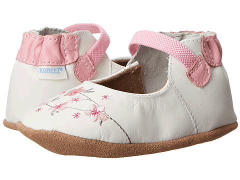 Robeez - Stella Mary Jane Soft Soles (Infant/Toddler) (White) Girl's Shoes