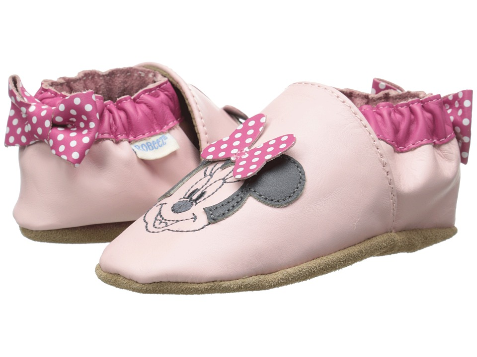 Robeez - Minnie Dot Soft Soles (Infant/Toddler) (Pastel Pink) Girl's Shoes