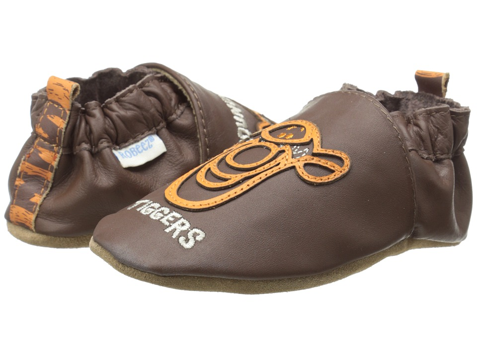 Robeez - Tigger Soft Soles (Infant/Toddler) (Brown) Boy's Shoes