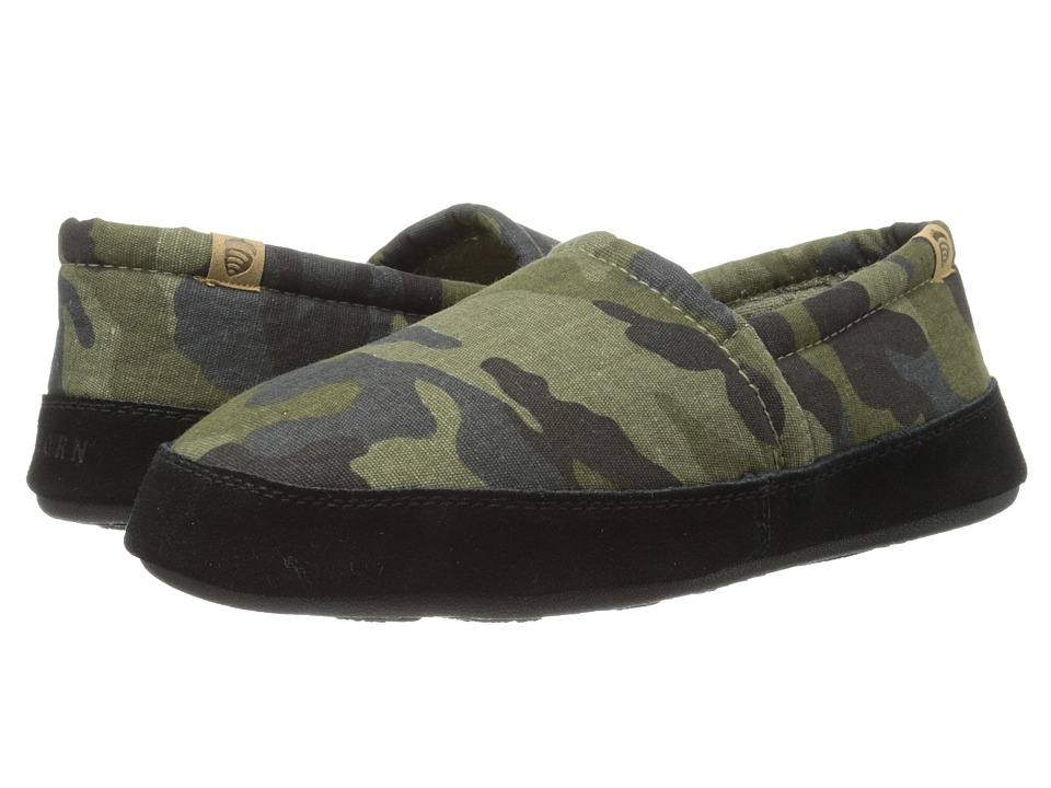 Acorn - Acorn Moc Summerweight (Grey Camo) Men's Slippers