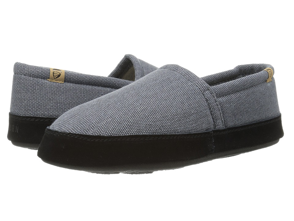 Acorn - Acorn Moc Summerweight (Blue Slate) Men's Slippers