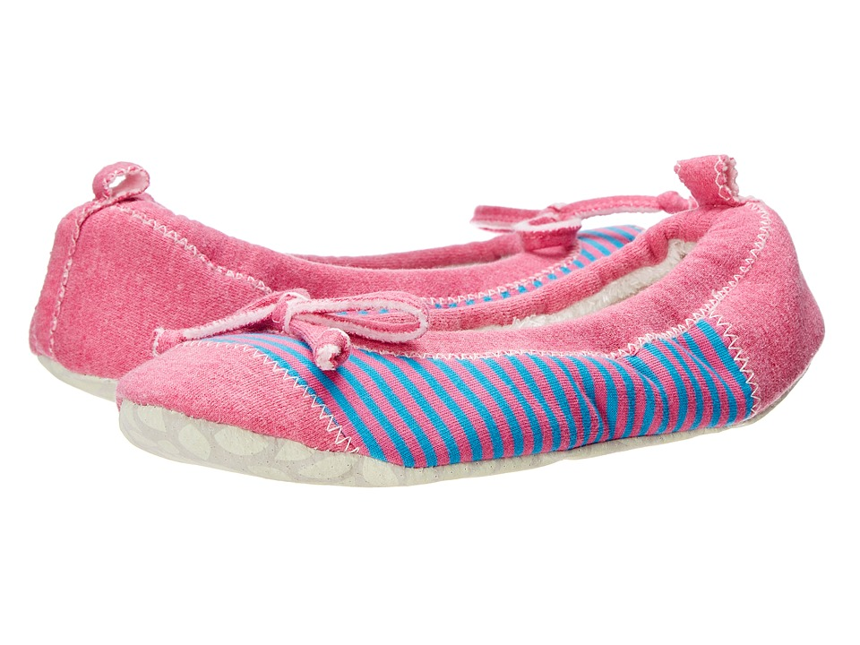 Acorn - Easy Spa Ballet (Pink Stripe) Women's Flat Shoes