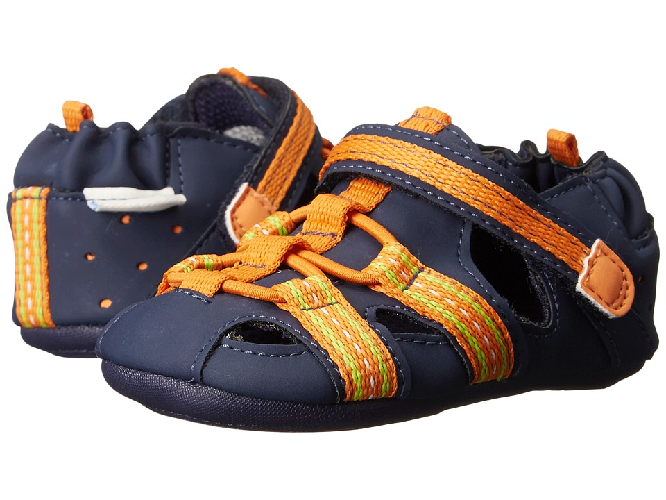 Robeez - Beach Break (Infant/Toddler) (Orange) Boys Shoes