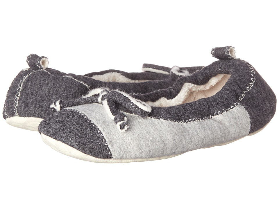 Acorn - Easy Spa Ballet (Charcoal Jersey) Women's Flat Shoes