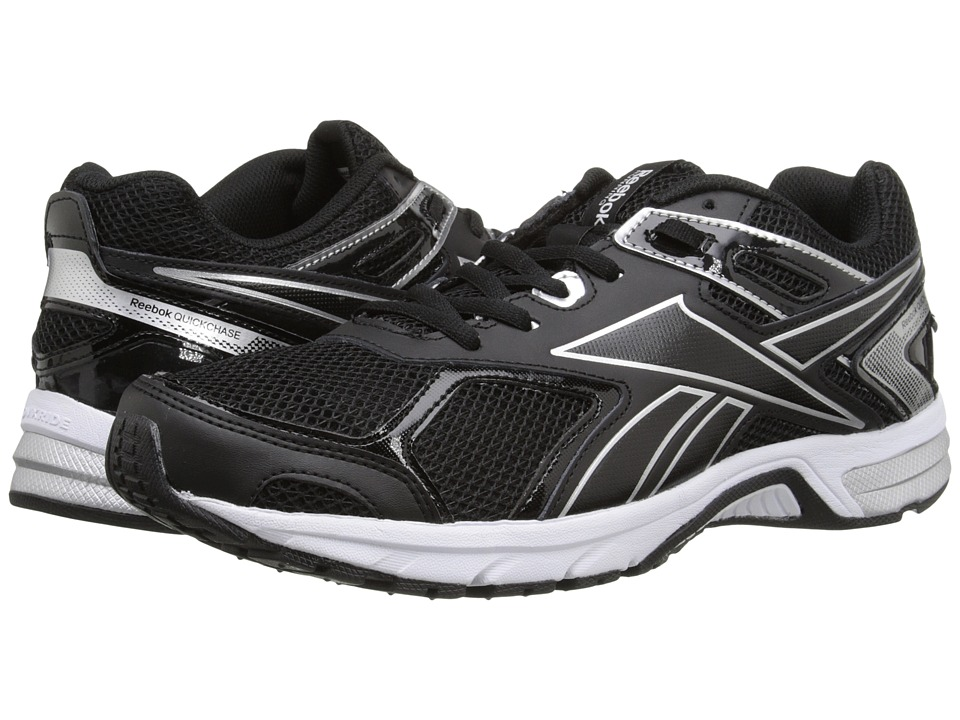 Reebok - Quickchase Run (Black/Pure Silver/White) Men