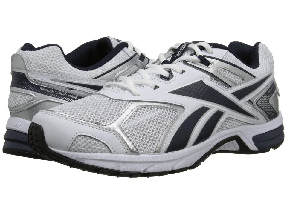 Reebok - Quickchase Run (White/Faux Indigo/Pure Silver/Black) Men