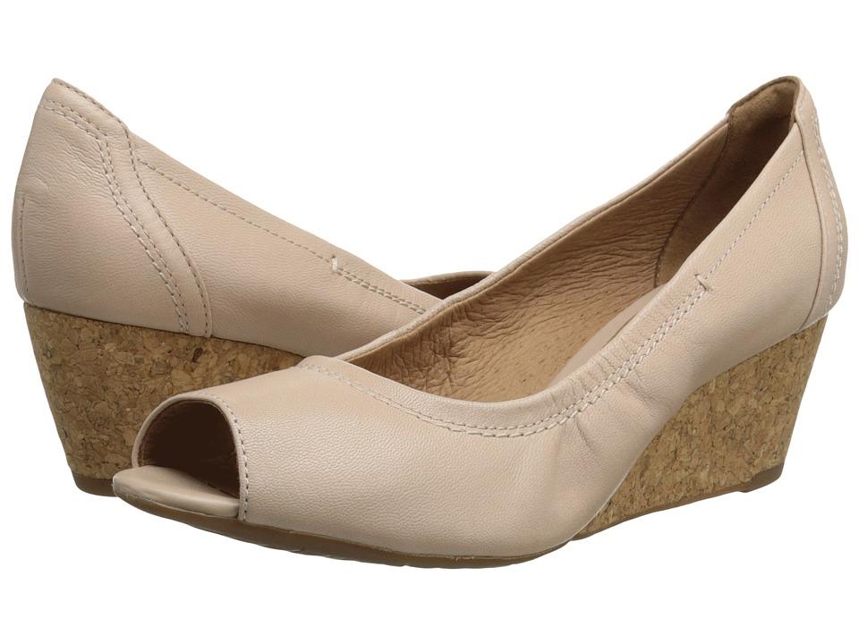 Clarks - Burmese Art (Blush Pink) Women's Wedge Shoes